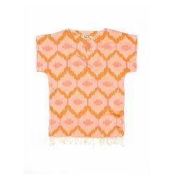 Oranžová plážová tunika z bavlny a bambusu Begonville Juicy