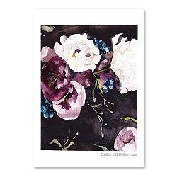 Plagát Blooms on Black V, 30x42cm