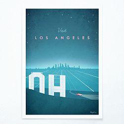 Plagát Travelposter Los Angeles, A2