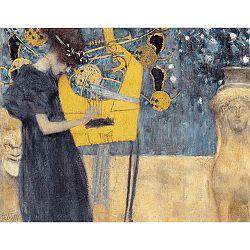 Reprodukcia obrazu Gustav Klimt - Music, 70x55cm
