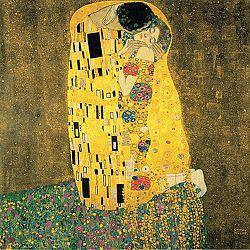 Reprodukcia obrazu Gustav Klimt - The Kiss, 30x30cm