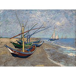 Reprodukcia obrazu Vincenta van Gogha - Fishing Boats on the Beach at Les Saintes-Maries-de la Mer, 40x30 cm