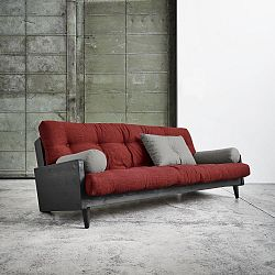 Rozkladacia pohovka Karup Indie Black/Passion Red/Granite Grey