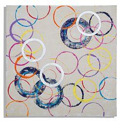 Ručne maľovaný obraz Mauro Ferretti Circles, 80×80 cm