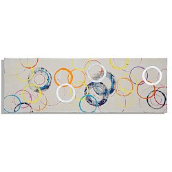 Ručne maľovaný obraz Mauro Ferretti Rings, 50×150 cm