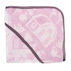 Ružovo-fialový detský uterák s kapucňou Sebra Farm Girl Hooded Towel