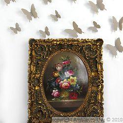 Sada 12 svetlohnedých 3D samolepiek Ambiance Butterflies