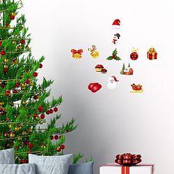 Sada 12 vianočných samolepiek Ambiance Christmas decorations