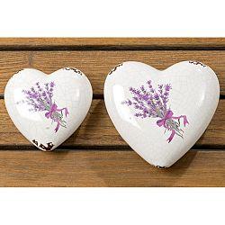 Sada 2 dekorácií v tvare srdca Boltze Lova