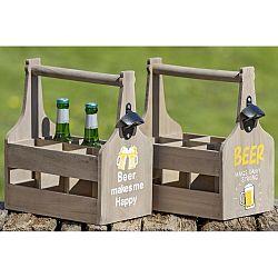 Sada 2 drevených dekoratívnych prepraviek na fľaše Boltze Bobby