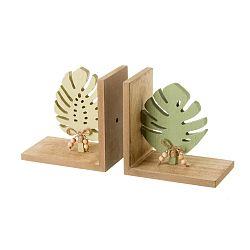 Sada 2 drevených zarážok kníh Unimasa
