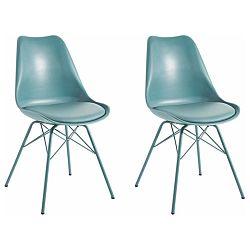 Sada 2 modrých jedálenských  stoličiek Støraa Lucinda