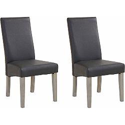 Sada 2 sivých jedálenských stoličiek Støraa Matrix