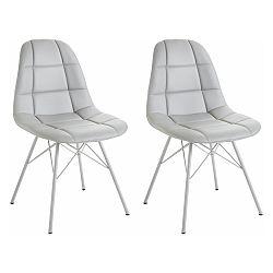 Sada 2 sivých stoličiek Støraa Sting