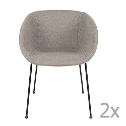 Sada 2 sivých stoličiek Zuiver Feston