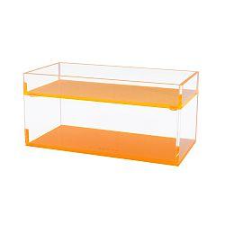 Sada 2 úložných boxov s oranžovým dnom Lund London Flash Blocco
