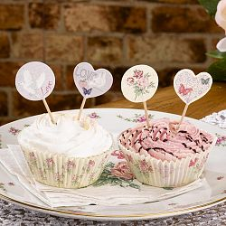 Sada 20 tortových dekorácií Neviti With Love