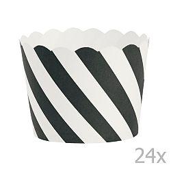 Sada 24 košíčkov na pečenie Miss Étoile Black Diagonal