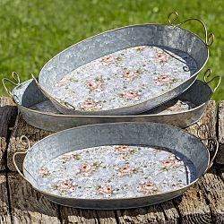 Sada 3 dekoratívnych kovových podnosov Boltze Margaret