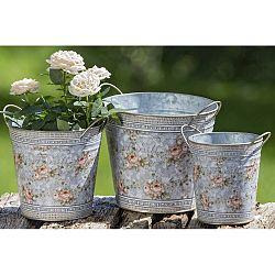Sada 3 kovových kvetináčov Boltze Margaret