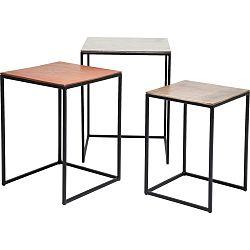 Sada 3 odkladacích stolíkov Kare Design Loft Square