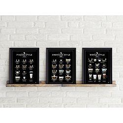 Sada 3 plagátov Follygraph Coffee Prints, 21x30cm