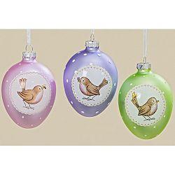 Sada 3 závesných farebných dekorácií v tvare vajíčok Boltz