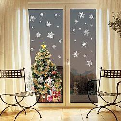 Sada 30 vianočných samolepiek Fanastick Christmas White Flakes