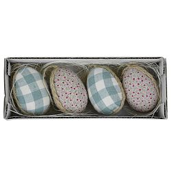 Sada 4 dekoratívnych veľkonočných vajíčok v boxe, 19 x 5 cm