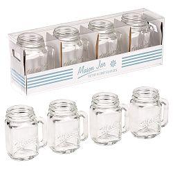 Sada 4 poldecových pohárikov Rex London Mason Jar