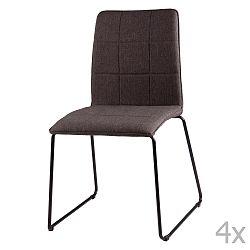 Sada 4 tmavosivých jedálenských stoličiek sømcasa Malina