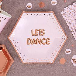 Sada 8 ružových tácok Neviti Glitz & Glamour Dance