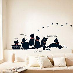 Sada samolepiek Ambiance Cats with Bowties