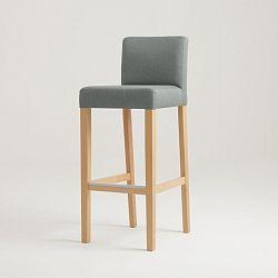 Sivá barová stolička s prírodnými nohami Custom Form Wilton