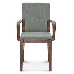 Sivá drevená stolička Fameg Silje