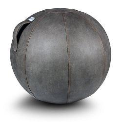 Sivá lopta na sedenie VLUV Veel, Ø60-65cm