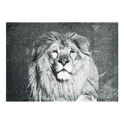 Sivá rohožka Mint Rugs StateMat Lion, 50 x 70 cm