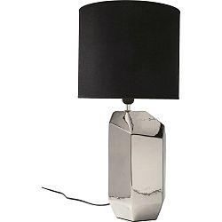 Sivá stolová lampa s čiernym tienidlom Kare Design Diamond