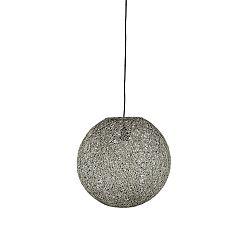 Sivé stropné svietidlo LABEL51 Twist, ⌀ 30 cm