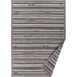 Sivo-béžový vzorovaný obojstranný koberec Narma Liiva, 140x200cm