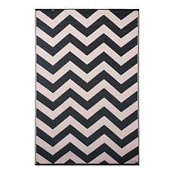 Sivo-biely obojstranný vonkajší koberec Green Decore Parucha, 90×150 cm