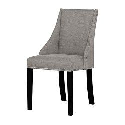 Sivo-hnedá stolička s čiernymi nohami Ted Lapidus Maison Patchouli