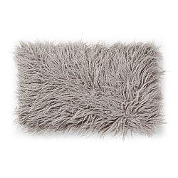 Sivý vankúš z umelej kožušiny La Forma Brock, 30×50cm