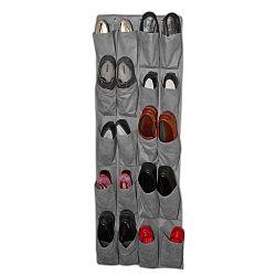 Sivý závesný organizér na topánky JOCCA Twenty, 135×48 cm