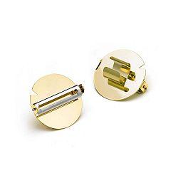 Škrabka vo forme prsteňa v zlatej farbe e-my