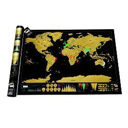 Stieracia mapa sveta Luckies of London  Deluxe Edition