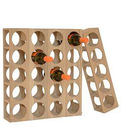 Stojan na fľaše vína z dubového dreva Wireworks Wine