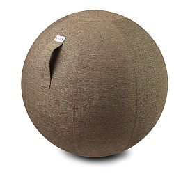 Svetlohnedá lopta na sedenie VLUV Stov, Ø60-65cm