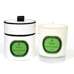 Sviečka s vôňou zeleného čaju Parks Candles London Aromatherapy, 45hodín horenia