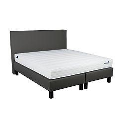 Tmavosivá boxspring posteľ Revor Domino, 200×140cm